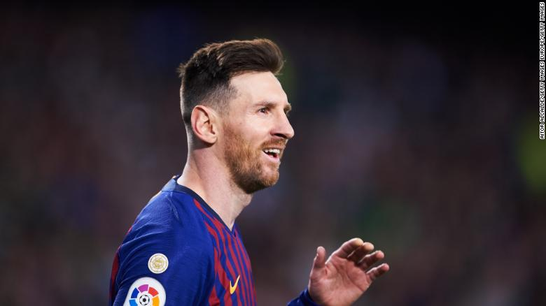 Barcelona's Leo Messi